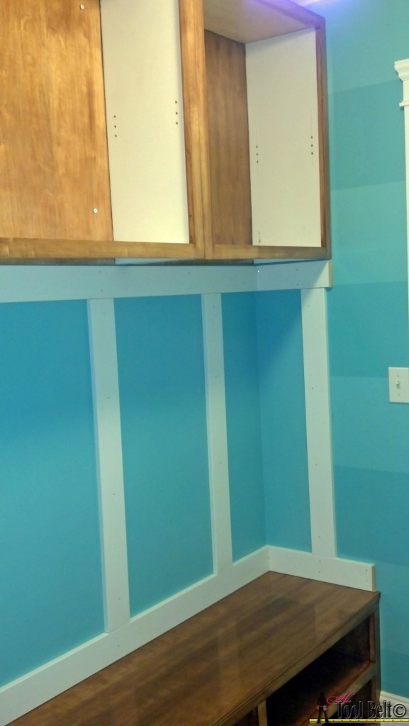 Mudroom before bench