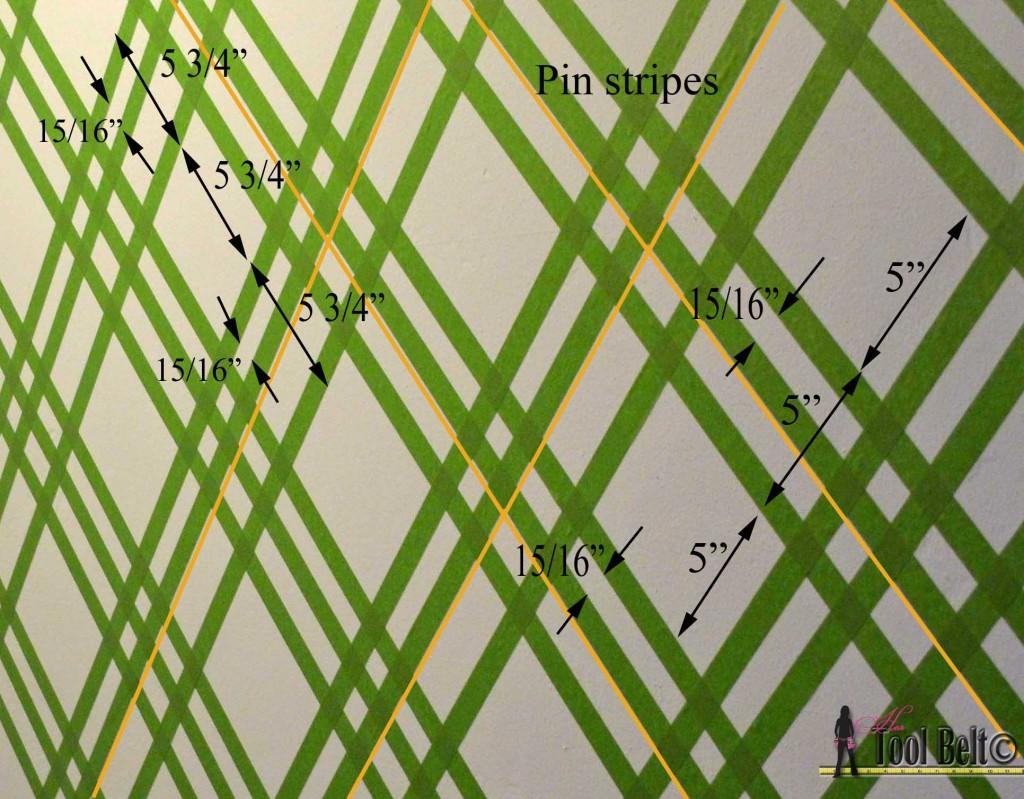 Painting a geometric wall on hertoolbelt.com  Taping it Modern