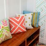 Painted Pillows tutorial on hertoolbelt.com