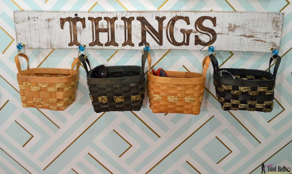 Things rustic sign with perfect lines on hertoolbelt.com