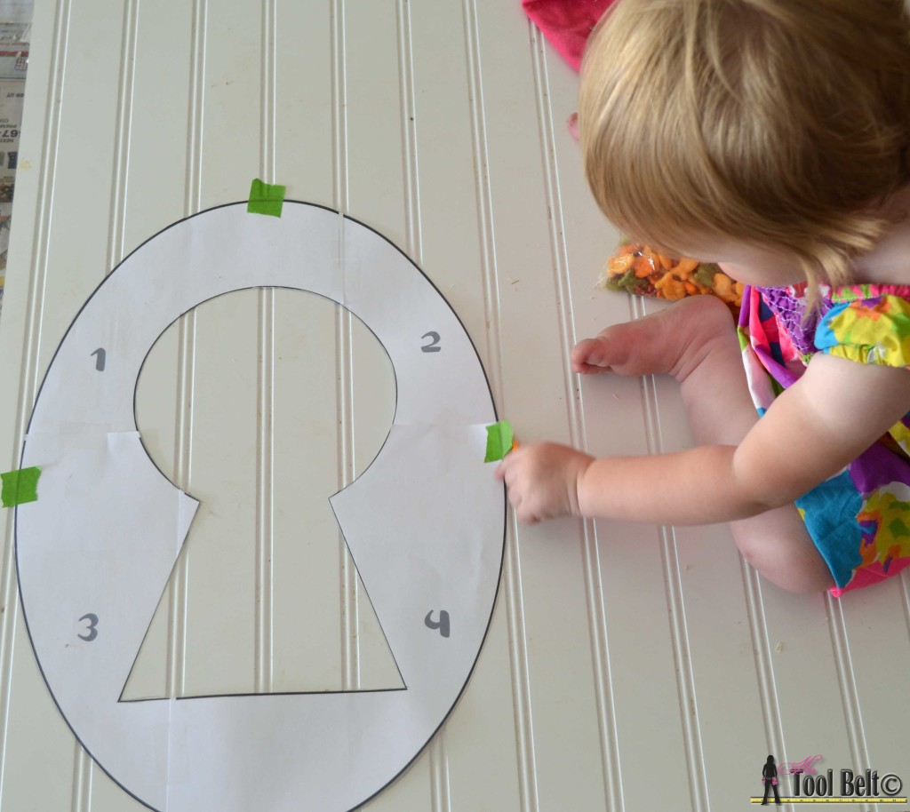 Keyhole pattern, trace onto bead board and mdf on hertoolbelt.com