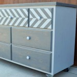 7 Drawer Dresser with Chevron Top