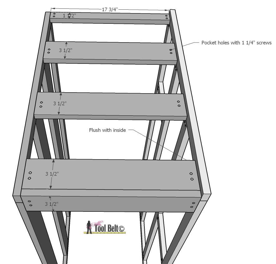 7 drawer dresser-bottom view
