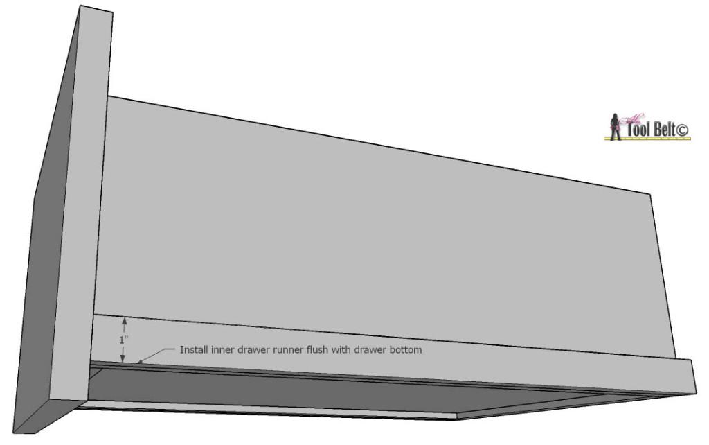 7 drawer dresser-drawer runner insides