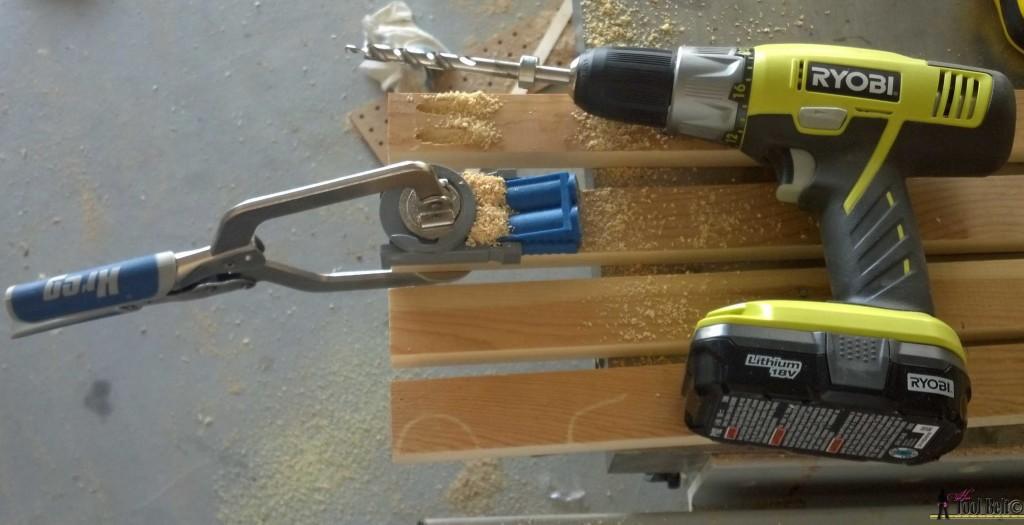 7 drawer dresser-drill pocket holes
