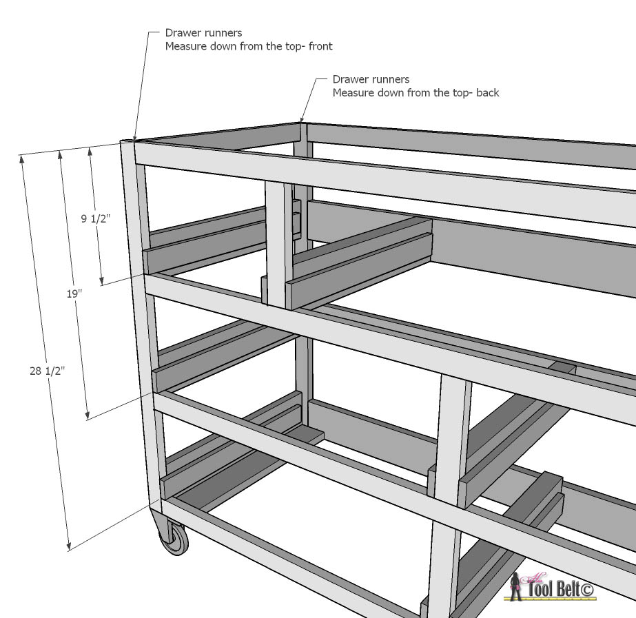 7 drawer dresser-install drawer runner outsides