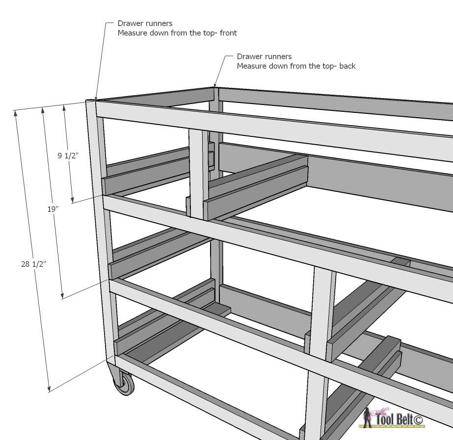 7 drawer dresser-install drawer runner outsides