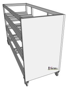 7 drawer dresser-install sides