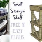 Small Storage Shelf on Remodelaholic