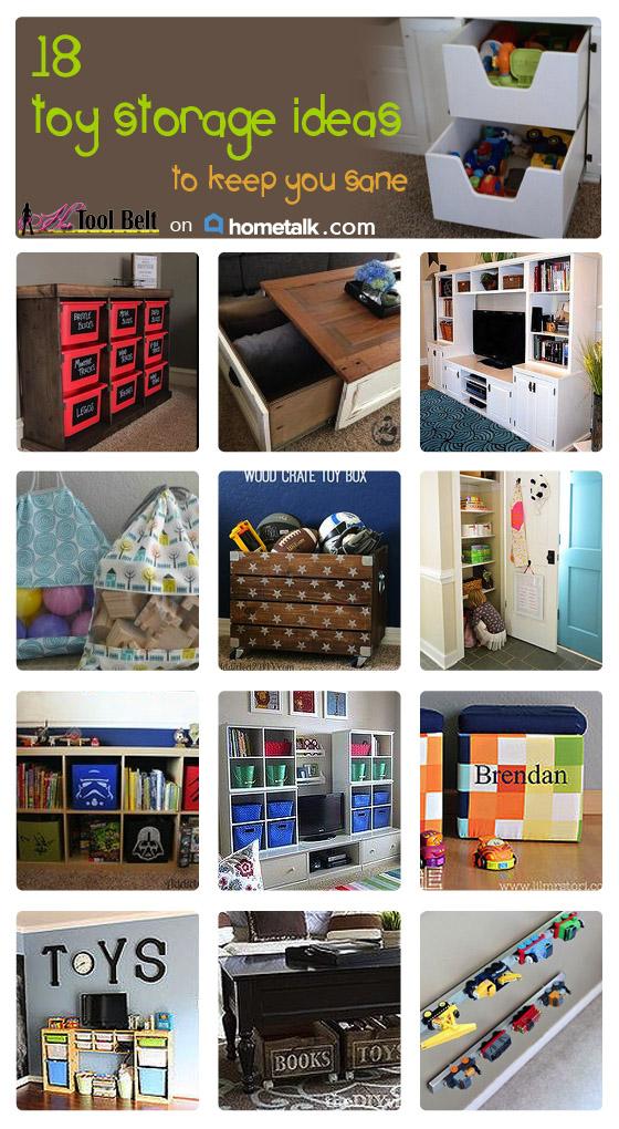18 toy storage ideas - her tool belt 18 Storage Ideas