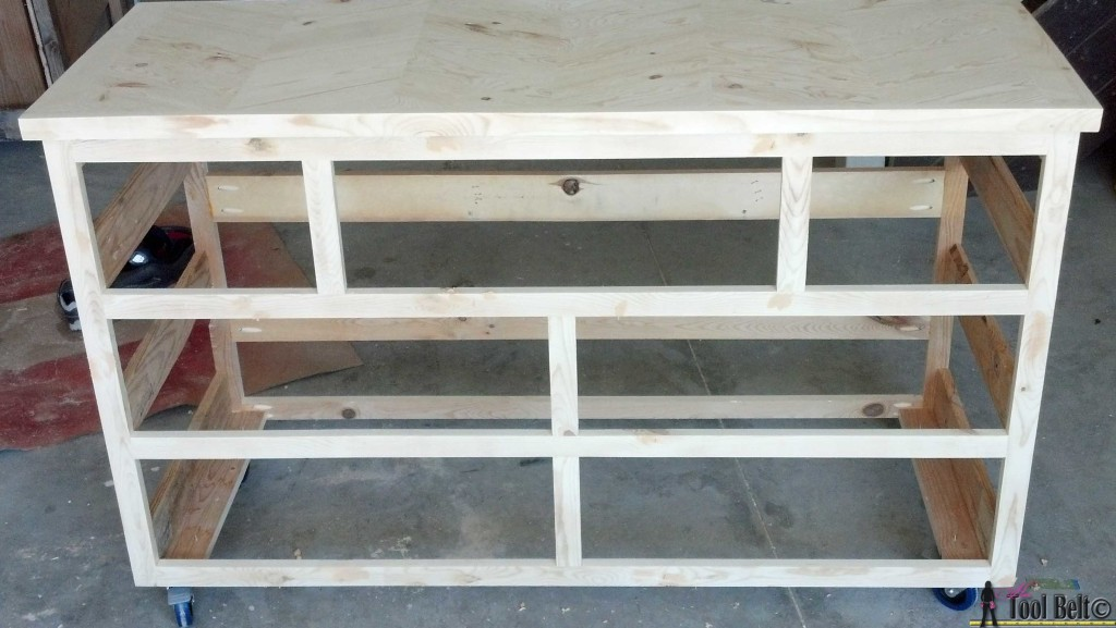 Unfinished 7 drawer dresser from pallets