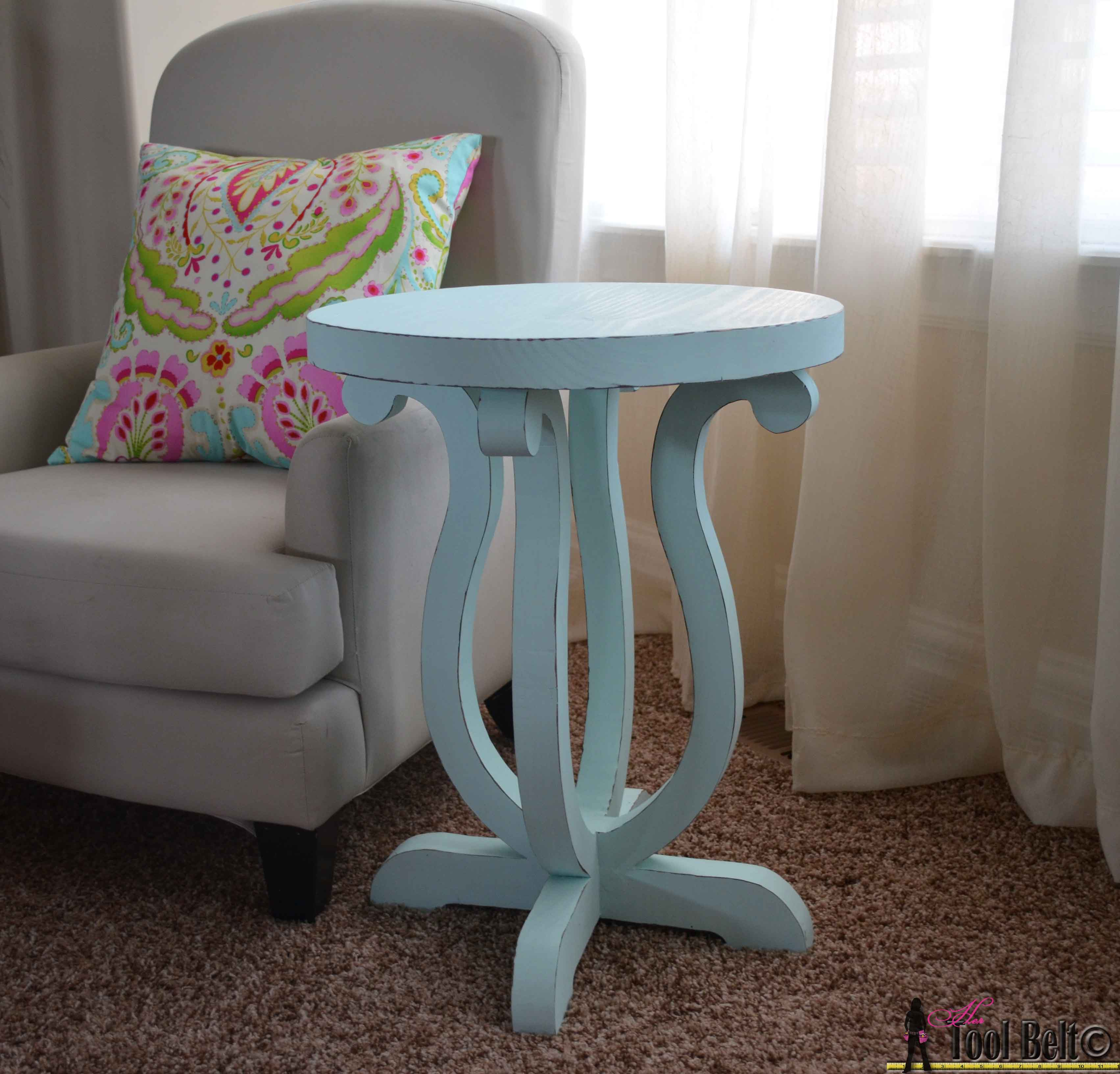 Lovely Build A Cute Side Table From A Simple 2 X 10 Board. Free Plans And