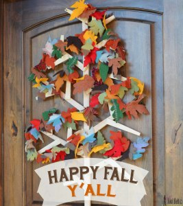 Fall Leaf Garland happy fall yall