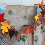 Recycled Sweater Fall Garland
