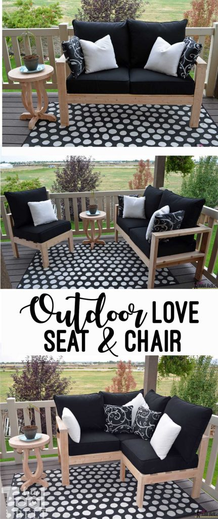 Outdoor love seat and chair plans. Easily switch around your outdoor furniture layout. 2x4