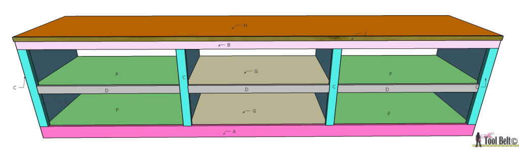 Love this shoe shelf bench, easily kick off your shoes and be on your way. Free plans customized to your space on hertoolbelt.com
