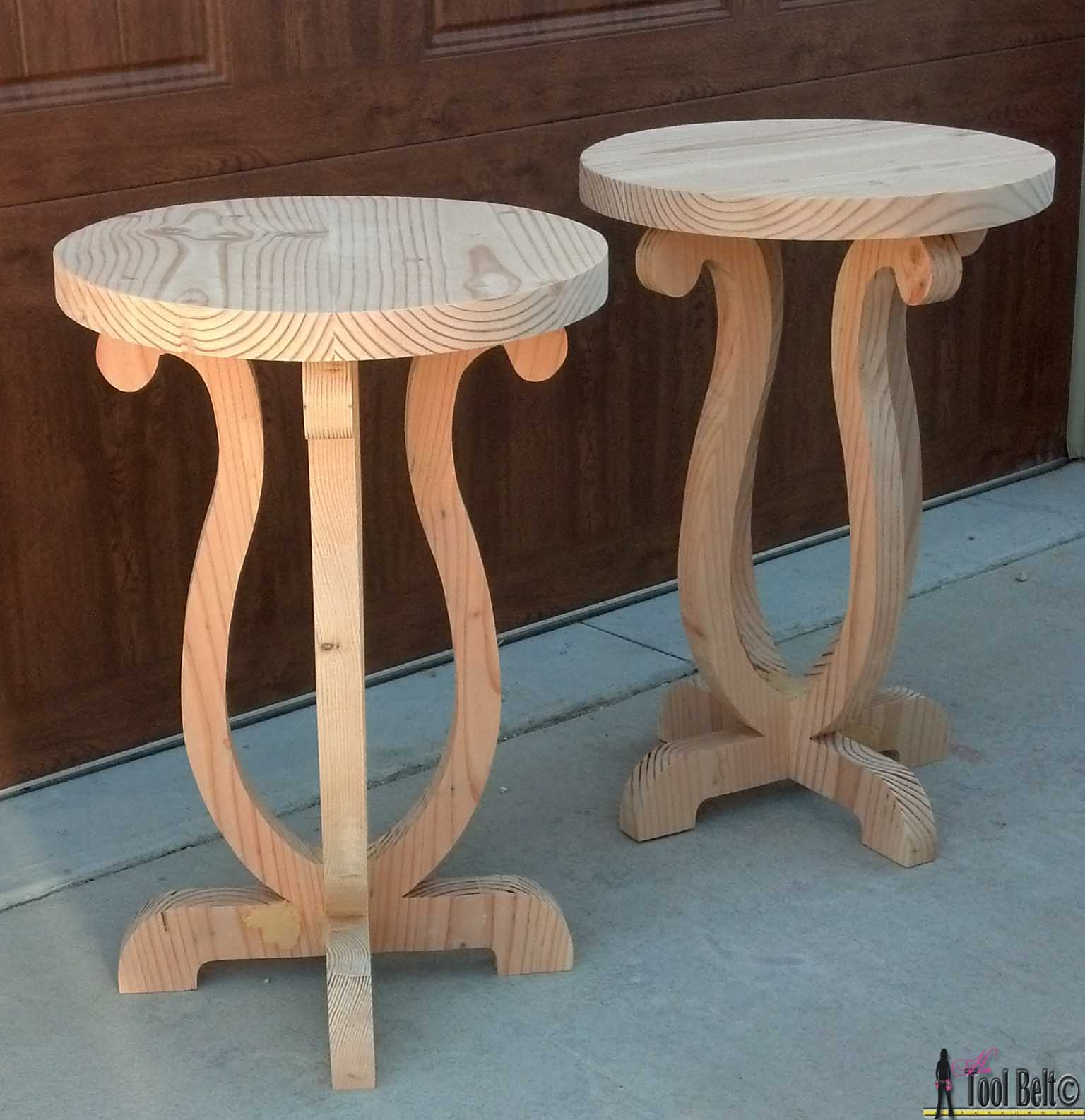 Exceptional Build A Cute Side Table From A Simple 2 X 10 Board. Free Plans And