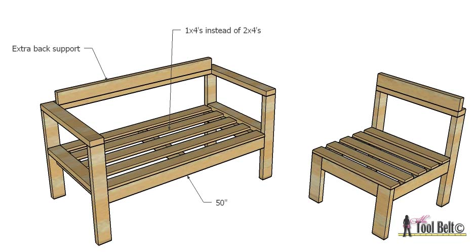 Attirant Build Your Own Outdoor Seating From 2x4u0027s With These Free And Easy Plans On  Hertoolbelt.