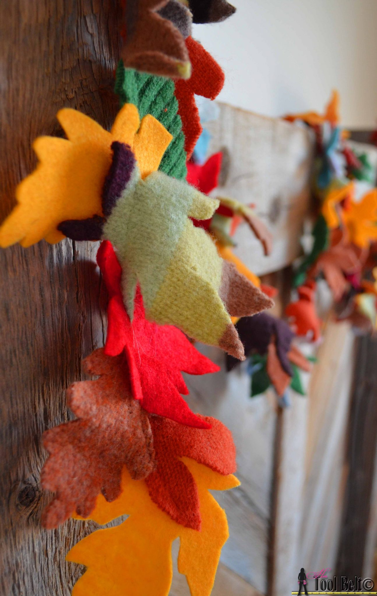 Recycled Sweater Fall Garland Her Tool Belt