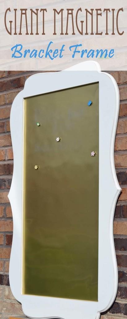 Giant magnetic bracket frame, pattern and tutorial on hertoolbelt.com