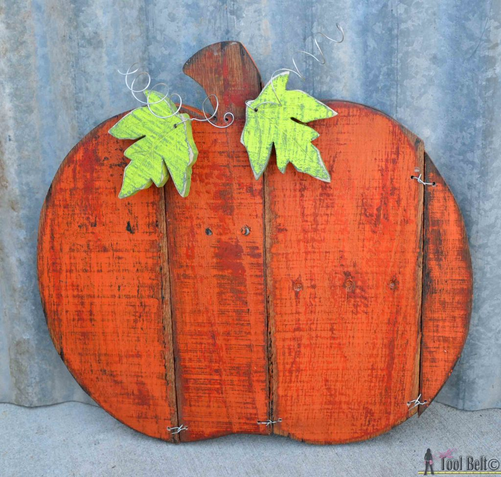 Make And Take Room In A Box Elizabeth Farm: Rustic Pallet Pumpkin