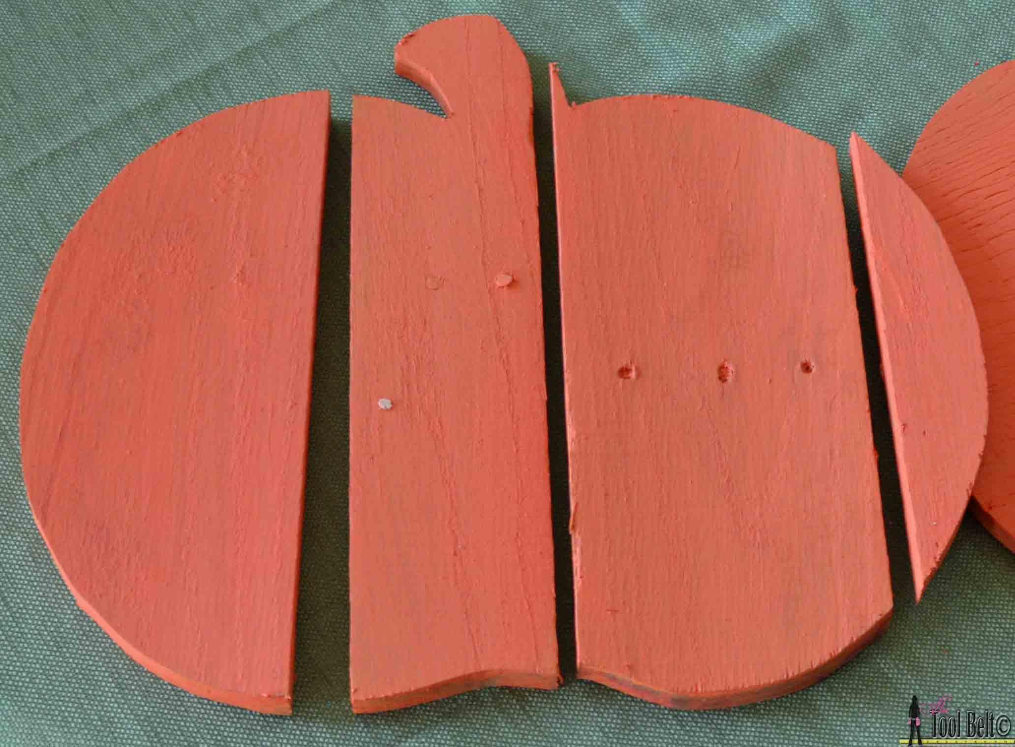 Rustic Pallet Pumpkin Her Tool Belt