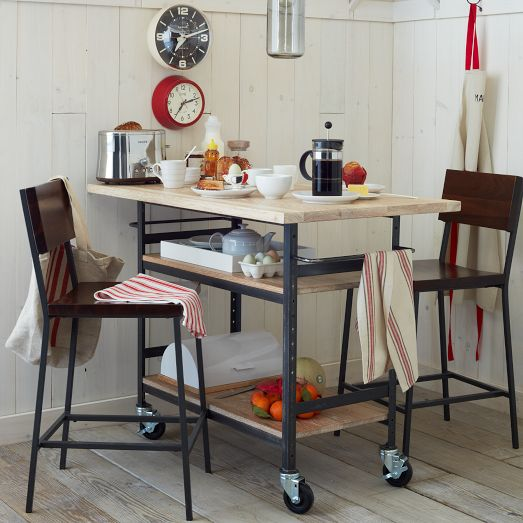 Build A Stylish DIY Multi Functional Table. Free Plans For A Rolling  Industrial Counter