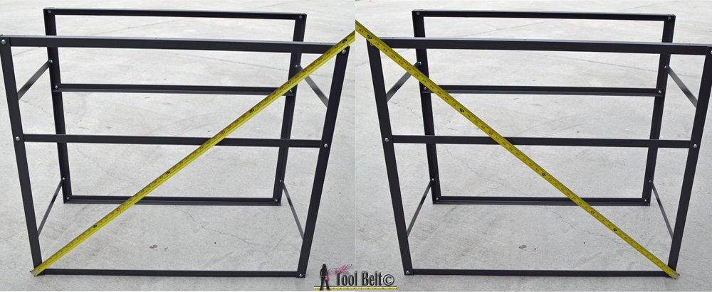 rolling table measure to make square