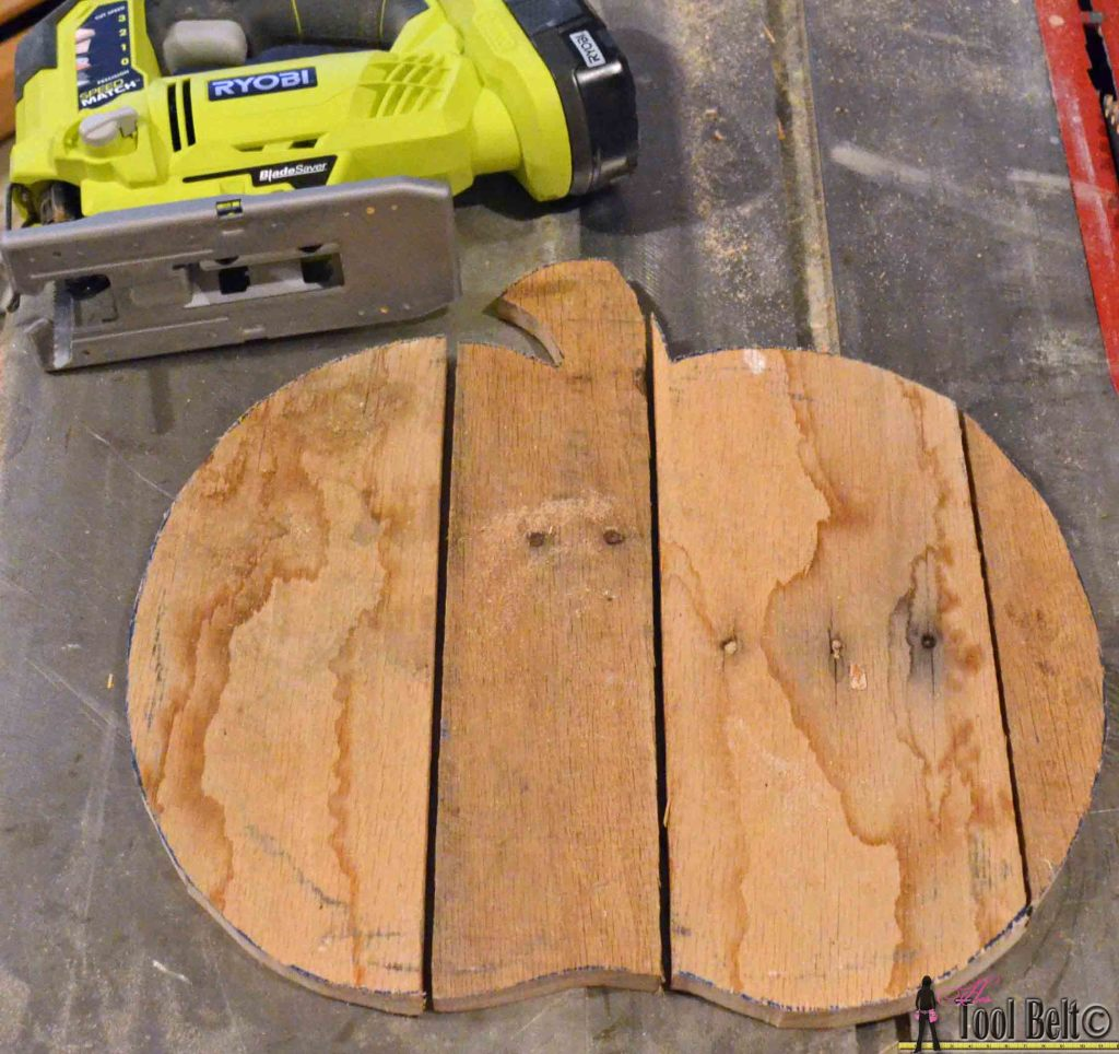 rustic pallet pumpkin cut out pattern