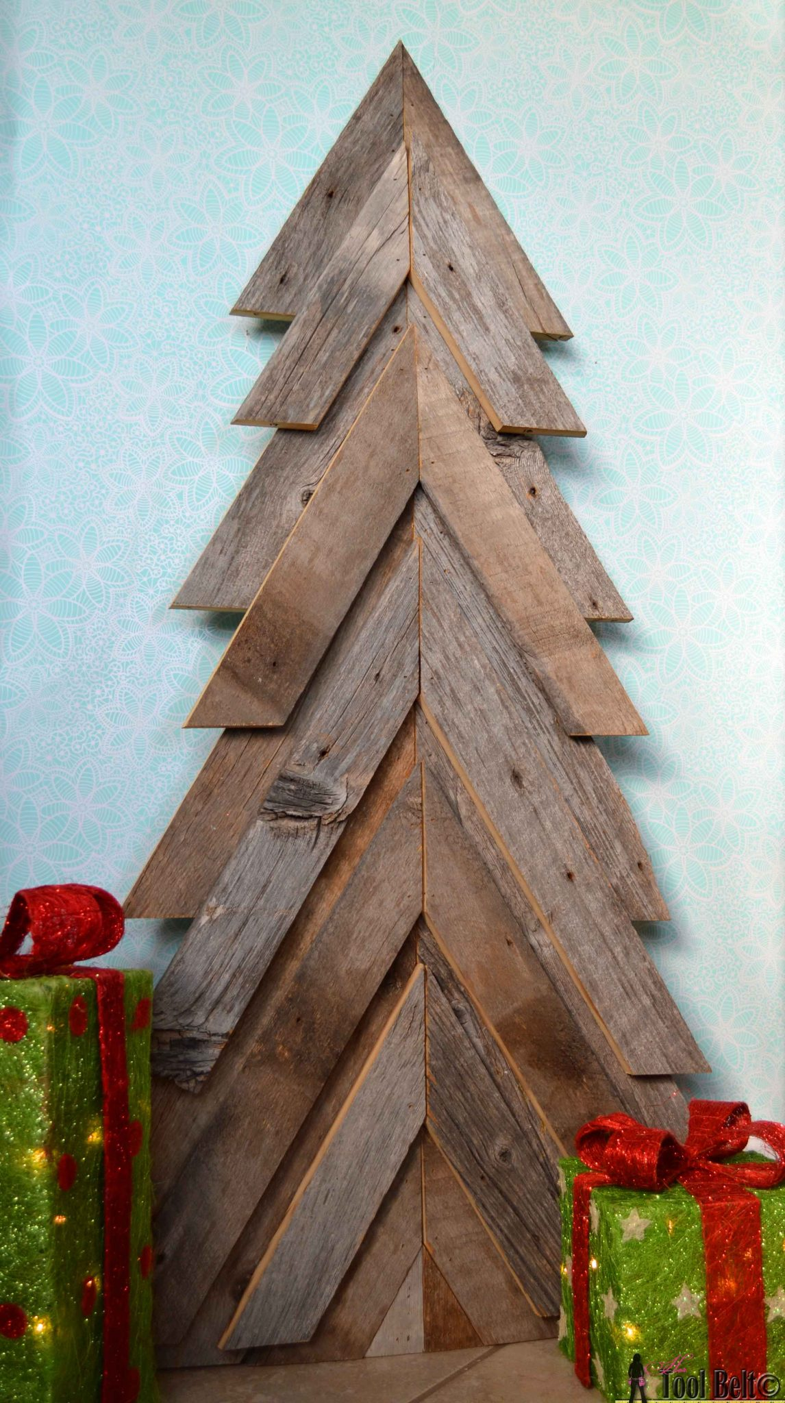 an easy way to add natural elements into your christmas decor build a rustic christmas - Wood Christmas Tree