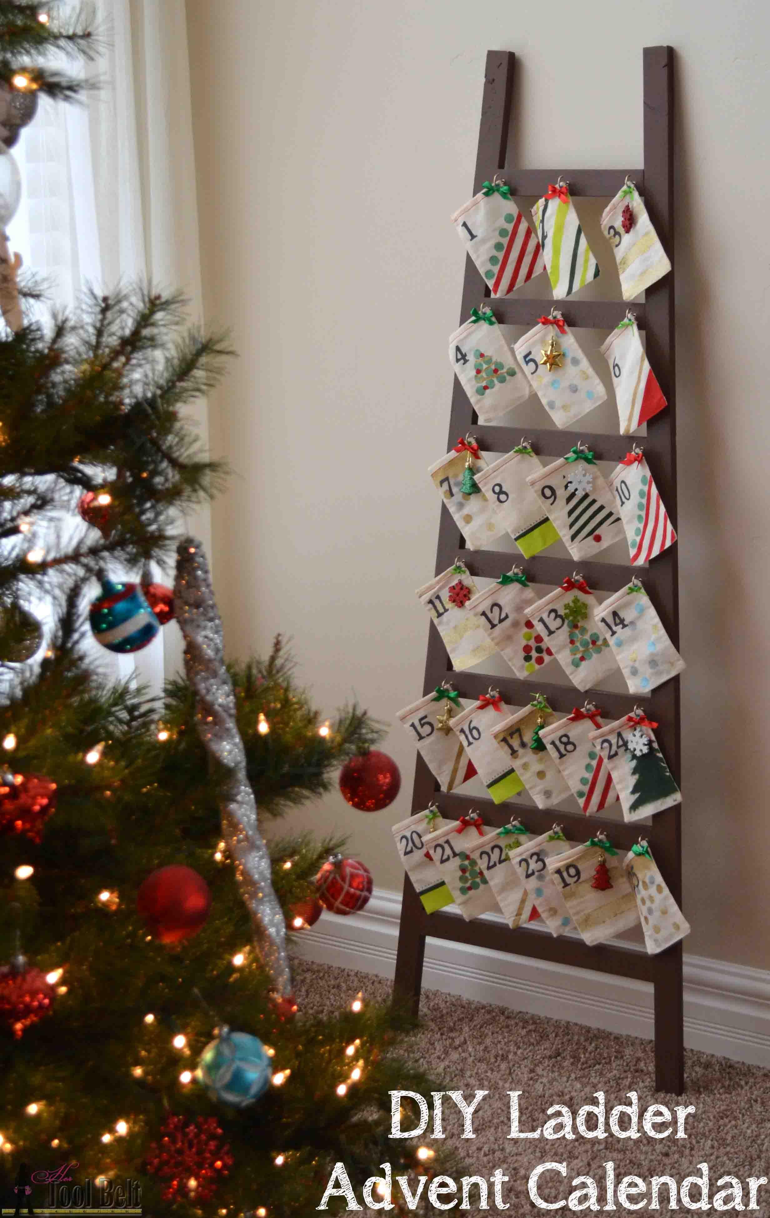 Calendar Advent Diy : Ladder advent calendar her tool belt