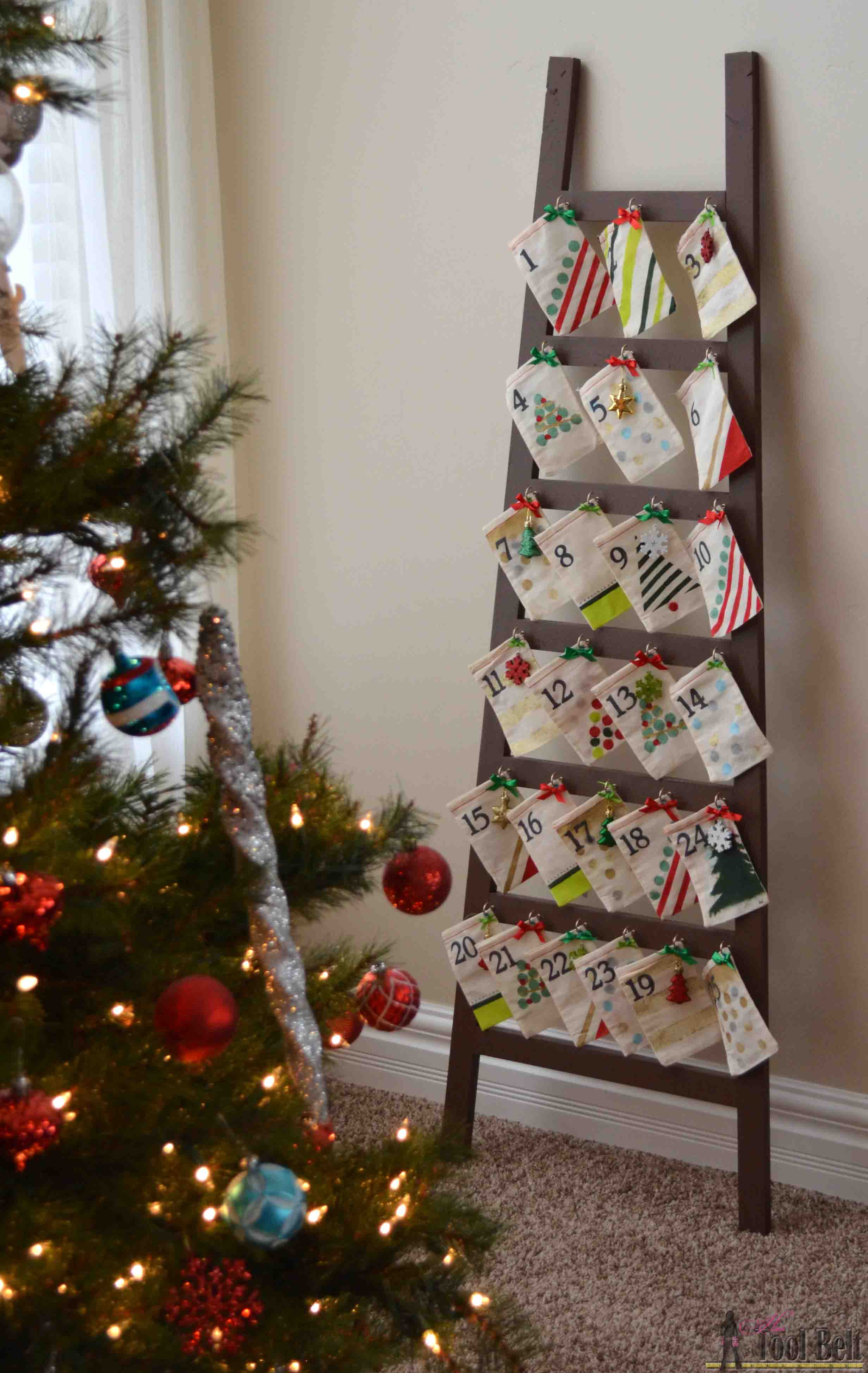 Ladder advent calendar her tool belt ladder advent calendar solutioingenieria Gallery