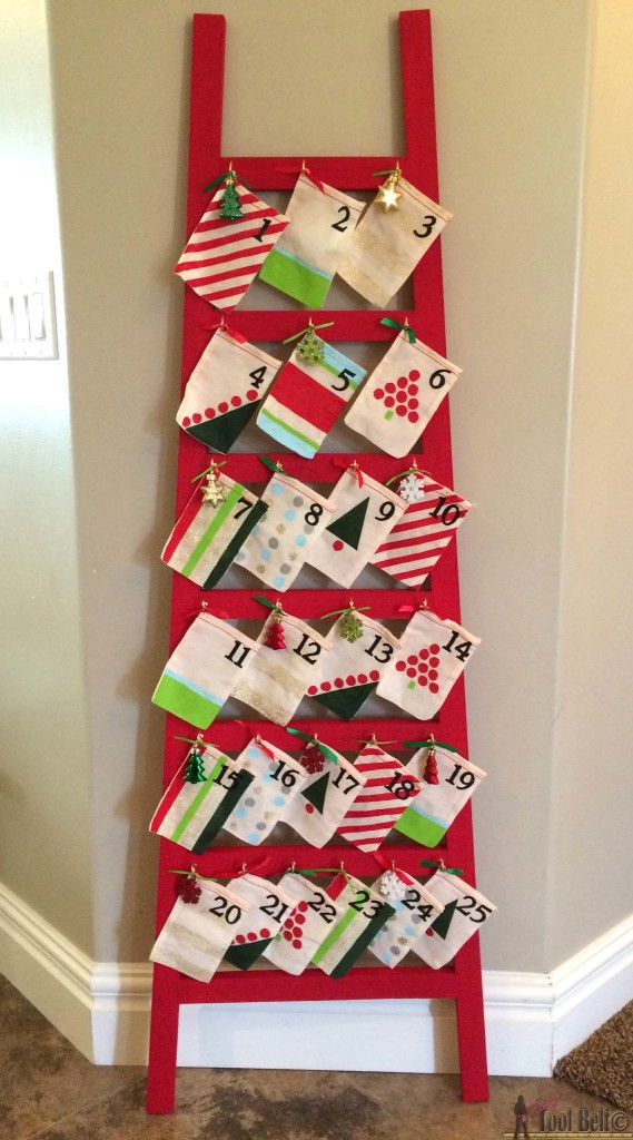Make counting down to the BIG day fun with this easy to build Ladder Advent Calendar - free plans and tutorial.