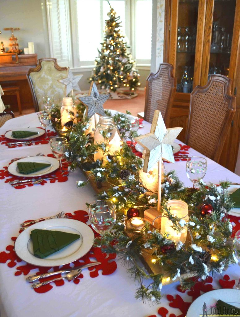 Create an easy winter wonderland Christmas table with a few simple DIY's.