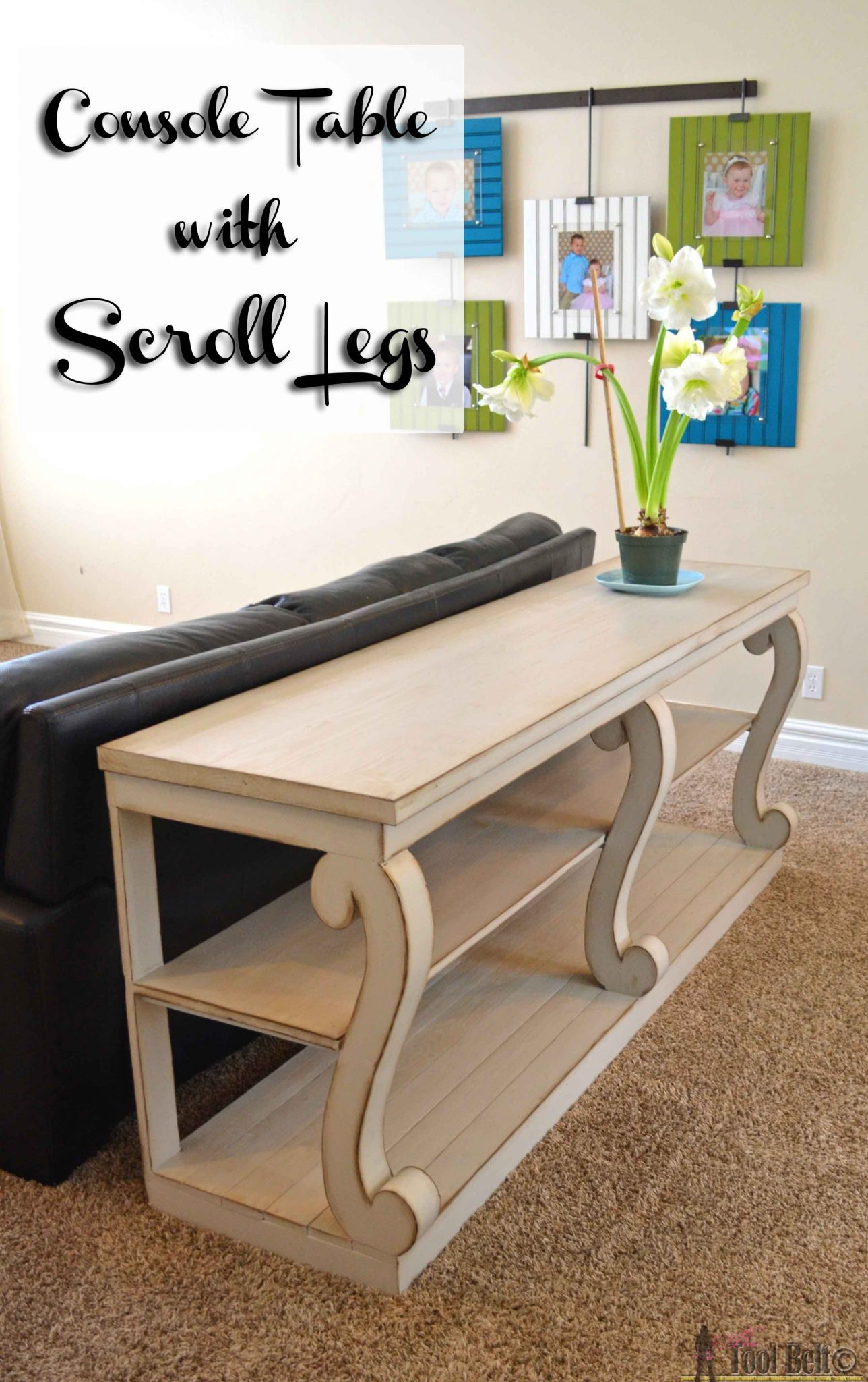 Build A Console Table With Awesome Scroll Legs, Definitely A Statement  Piece! Free Woodworking
