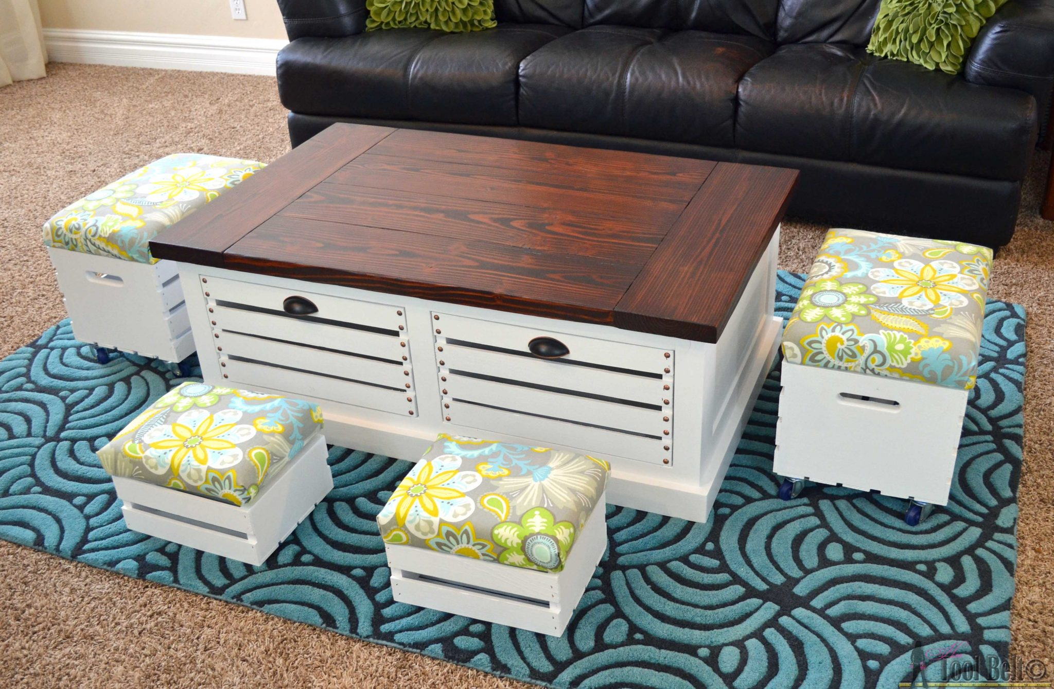 Add Storage To Your Living Areas By Building A Stylish And Unique Crate Storage Coffee Table