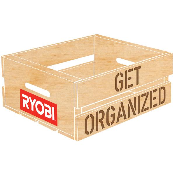 Get Organized Wood Ryobi Campaign