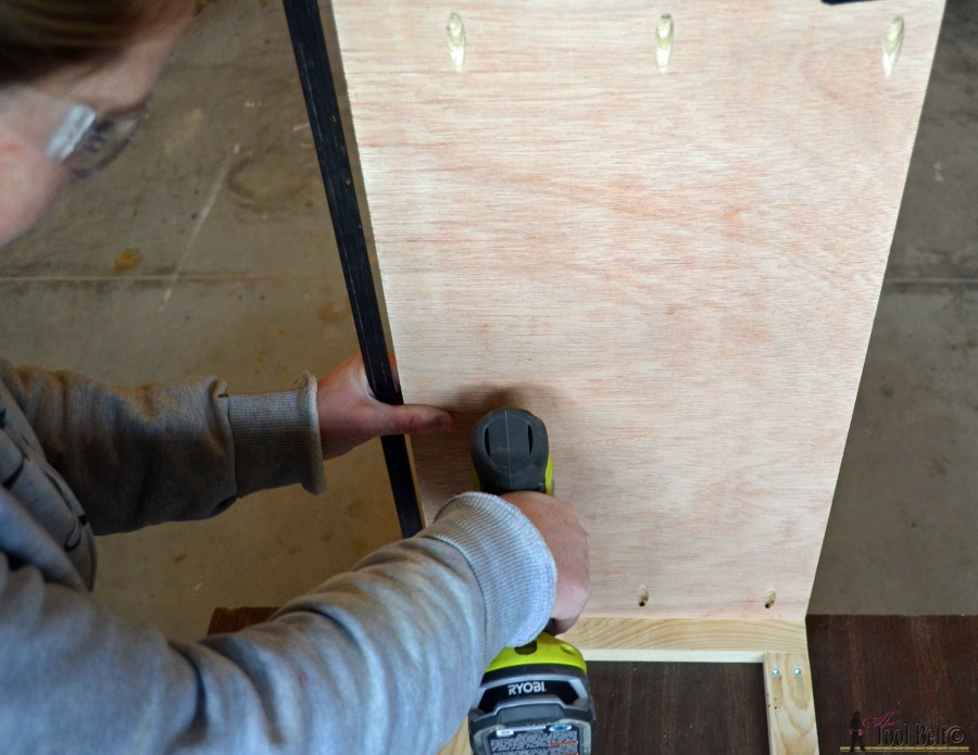 Step 3 crate table attach side panel to face frame