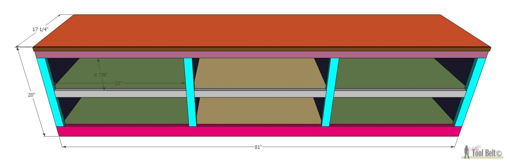 Shoe Shelf Bench With Pocket Holes Her Tool Belt
