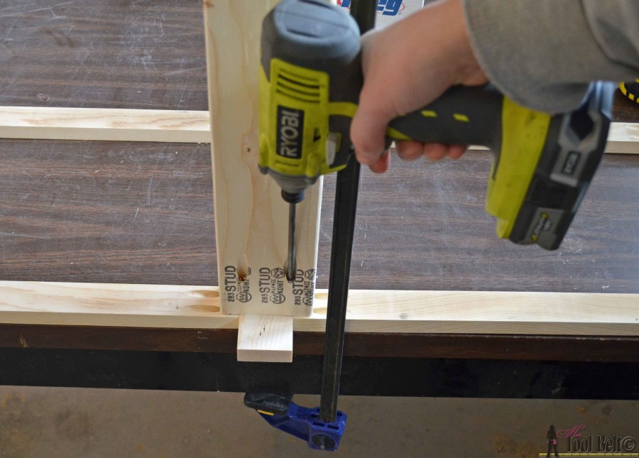step 4 crate table attach bottom supports