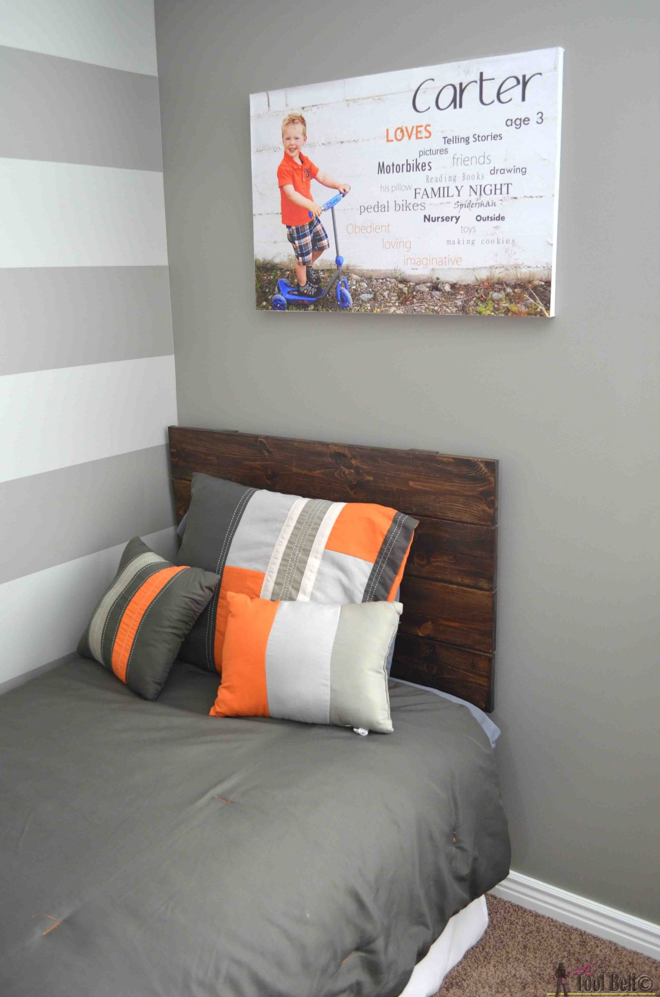 Simple Headboard and Dusty Theme Room - Her Tool Belt