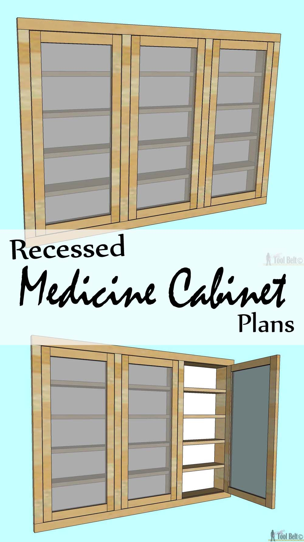 Recessed medicine cabinet her tool belt - Bathroom vanity plans woodworking ...