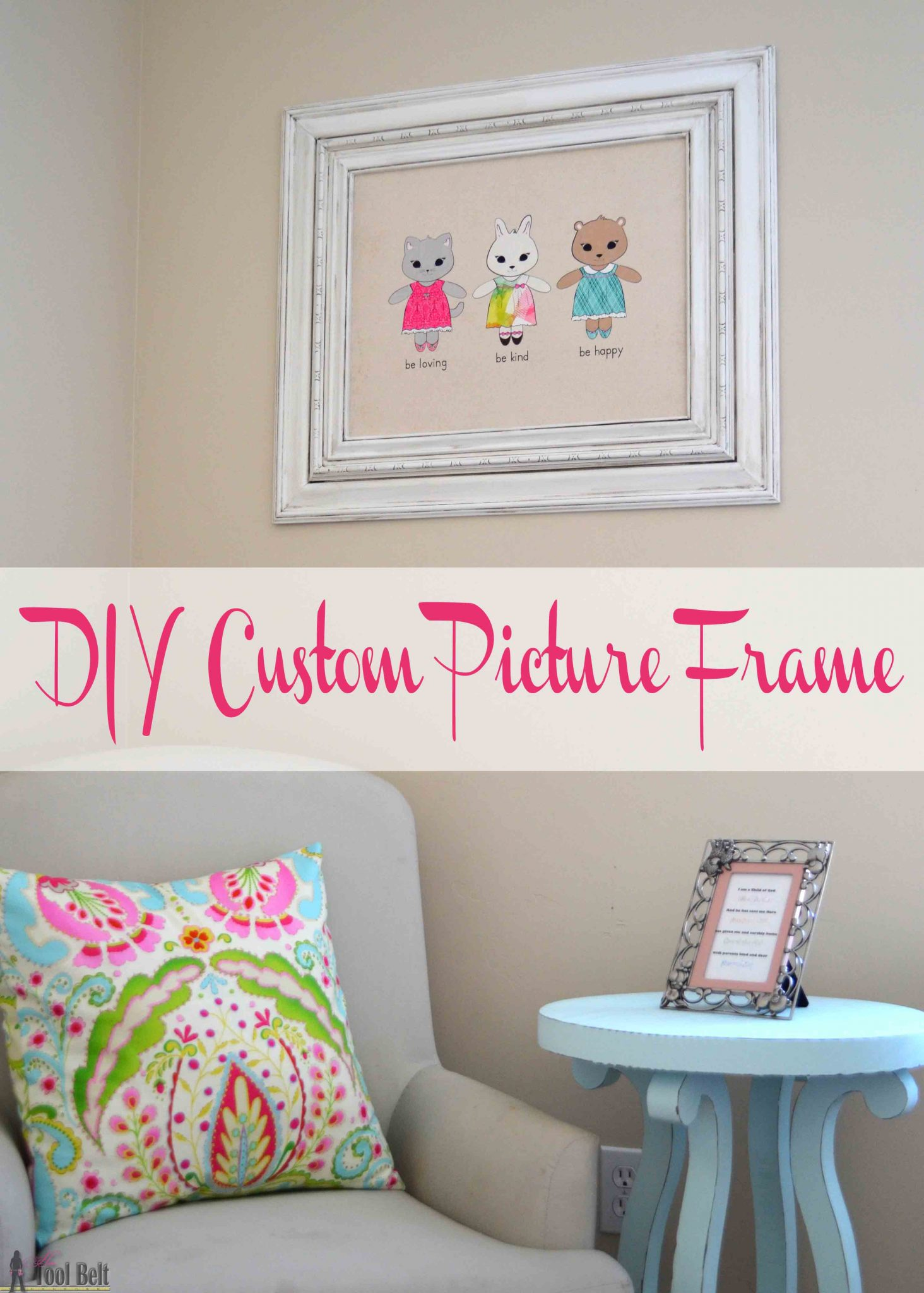 Diy custom picture frame her tool belt build a diy custom picture frame using moulding from the hardware store so much cheaper jeuxipadfo Gallery