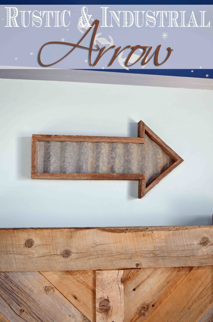 Build an easy industrial and rustic arrow with these free plans to add farmhouse style.