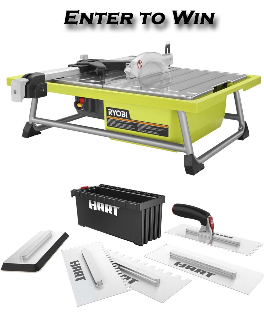 Ryobi tile saw Prize package