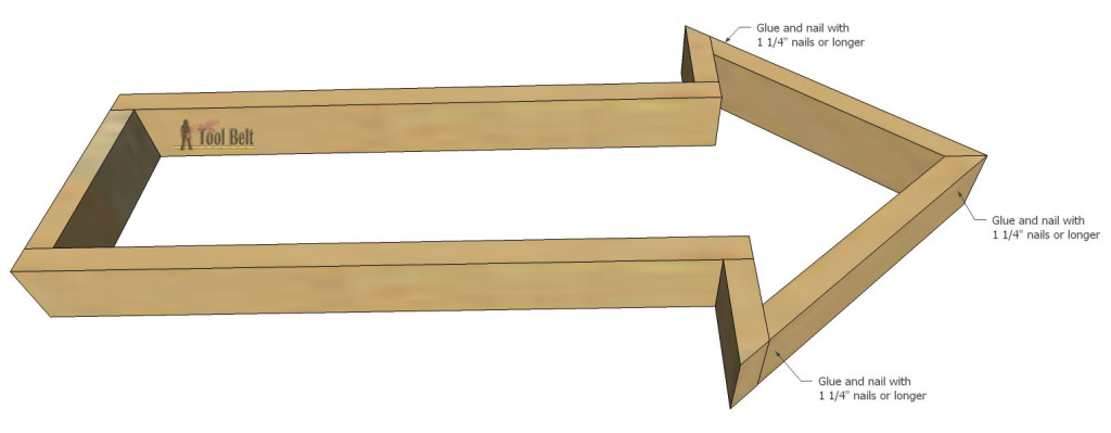 Build an easy industrial and rustic arrow with reclaimed wood and old corrugated tin with these free plans.