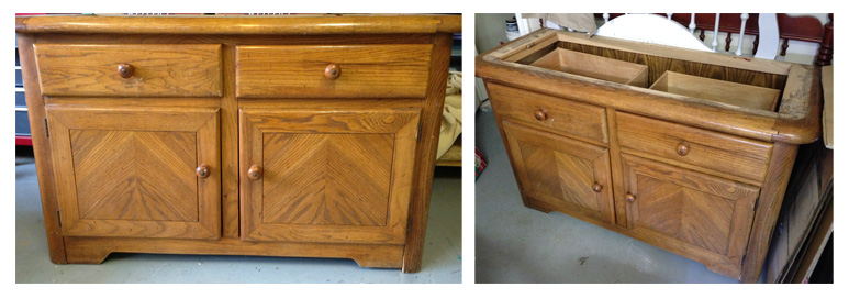 Convert an old cabinet into an industrial cart or build one from scratch with these free woodworking plans.  You have got to see the after pics, unbelievable!!!