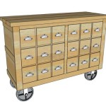 Industrial Cart – Apothecary Cabinet