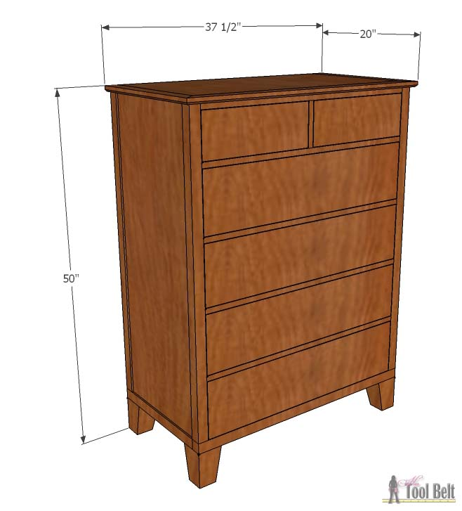 Build A Gorgeous Tall Dresser With Tapered Legs For Your Bedroom Free Woodworking Plans