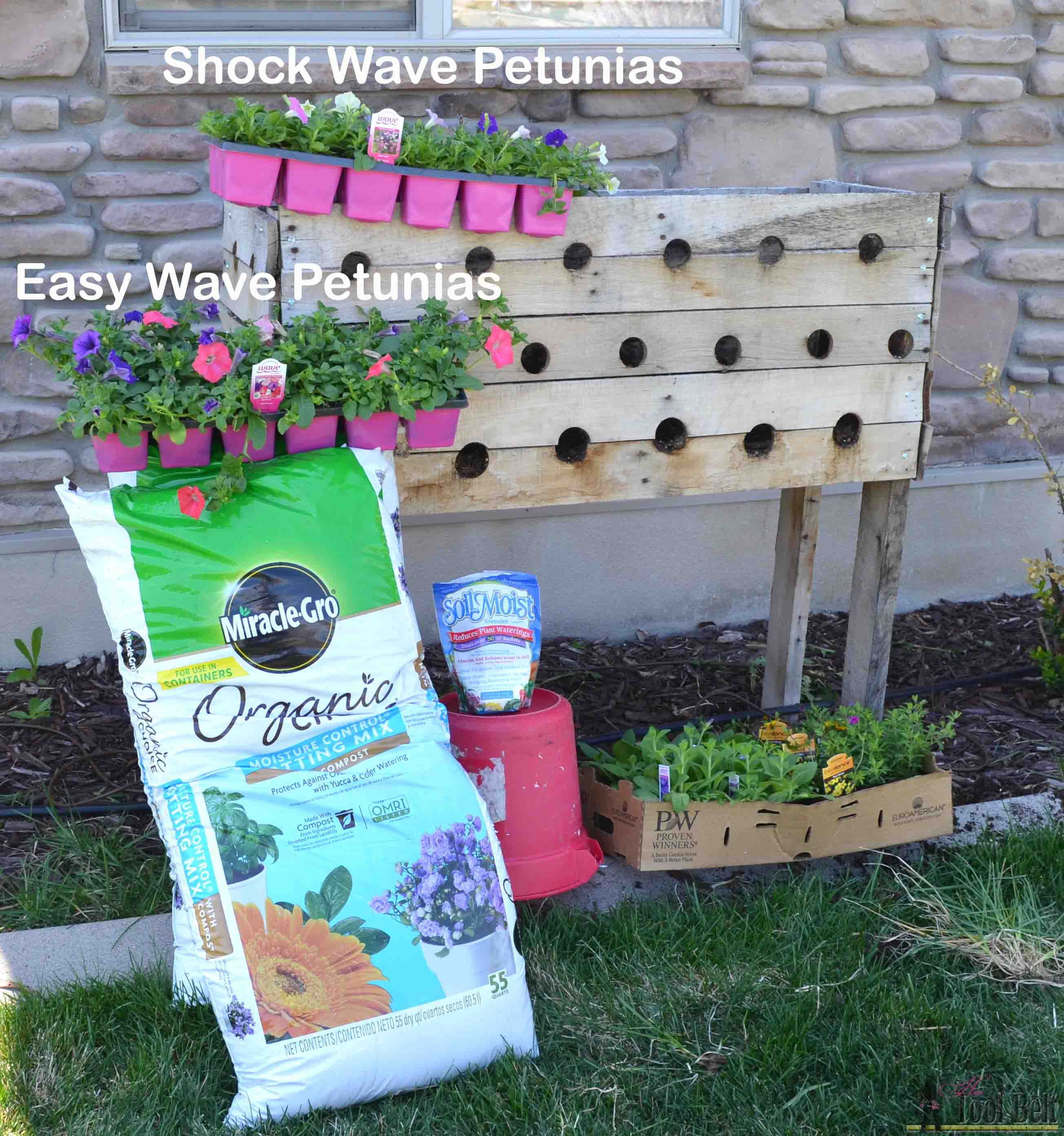 supplies 2016 Pallet Planter Box For Cascading
